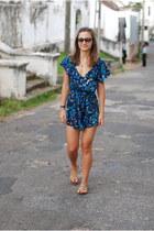 Prism sunglasses - asos romper - Zara sandals - Hermes bracelet