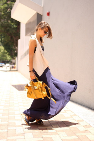 Zara vest - espadrilles shoes - Topshop dress - Mulberry bag - rayban glasses