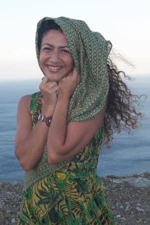 green Pinko dress - green nice thngs paloma s scarf - roberto cavalli bracelet