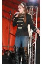 black Vera Lucci vest - black Francesco Milano boots