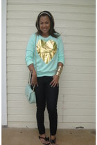 aquamarine cotton f21 sweater