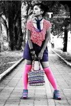 Zara top - Endorse skirt - sox galery socks - belle shoes - tie - top