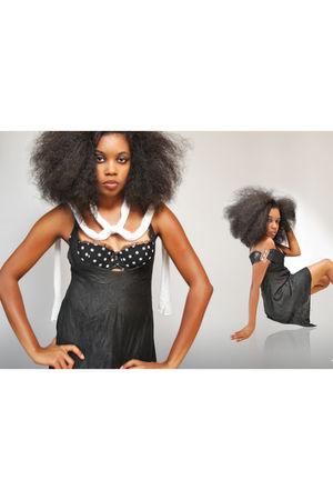 black dress - black