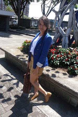 Zara shoes - Zara blazer - Massimo Dutti bag - Mango shorts - Zara blouse