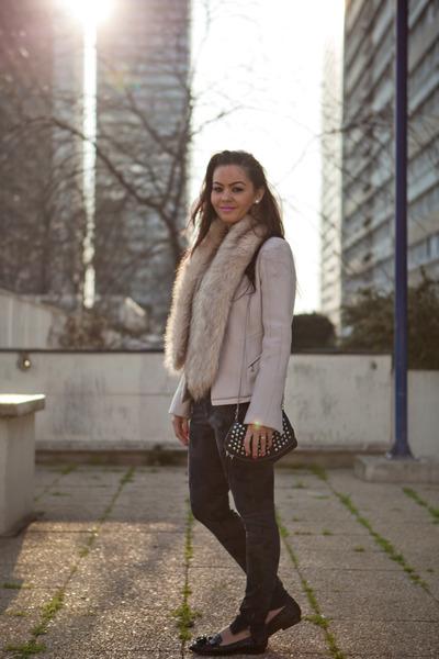 beige laine Louis Vuitton blazer - militaire bleu Zara pants