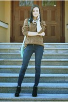 H&M sweater - Zara jeans - H&M shirt - Deichmann bag - Rejnok wedges