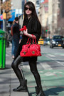 Black-juicy-couture-coat-black-guess-leggings-red-marc-jacobs-bag