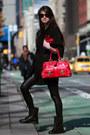 Black-juicy-couture-coat-black-guess-leggings-red-marc-jacobs-bag