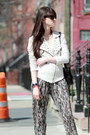 Eggshell-mango-jacket-off-white-miss-sixty-shoes-heather-gray-mango-pants
