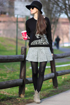 heather gray united colors of benetton skirt - black Juicy Couture sweater