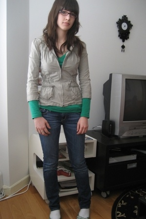 Abercrombie jacket - Forever21 shirt - hollister jeans - Old Navy shoes - Zales