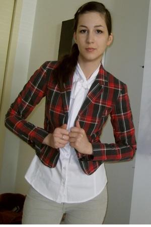 H&M blazer - Express shirt - American Apparel pants
