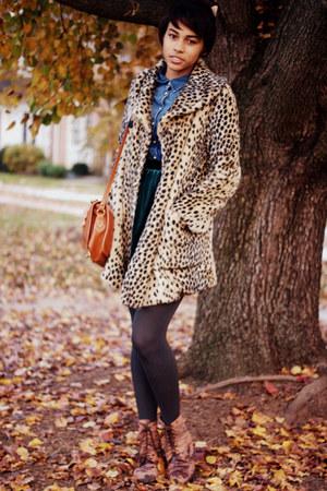 beige cheetah print Forever 21 coat