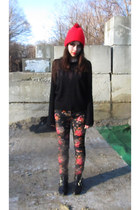 Dolce Vita boots - floral H&M jeans - Urban Outfitters sweater