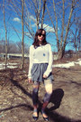 Grey-urban-outfitters-dress-white-forever-21-sweater