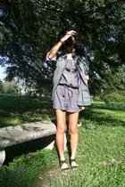 Forever 21 jumper - Vans jacket - Gap shirt - H&M sandals - Ray Ban romper