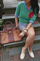 Aldo loafers - H&M sweater - ann taylor shirt - Fossil bag