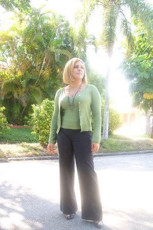 APTO9 necklace - Miu Miu shoes - Gap pants - Max Studio sweater