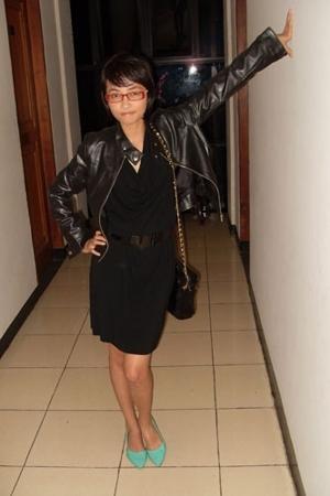 jacket - bodylanguage dress - Orange belt - the fly shoes
