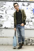 balenciaga shirt - Aprill 77 jacket - vintage jeans - socks - vintage shirt - La