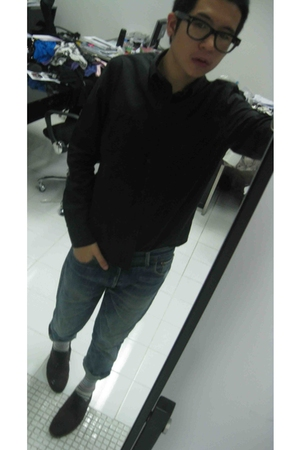 balenciaga shirt - vintage jeans - izzuecom socks - Jshoes shoes - tomford glass