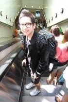 Jaspal jacket - myself design shorts - vintage backpack leater accessories - Tom