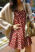 brown lace up boots hong kong vintage boots - crimson vintage Pink Soda dress -