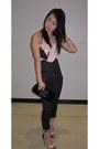 Light-pink-lace-corset-h-m-bodysuit-dark-gray-miss-sixty-jeans
