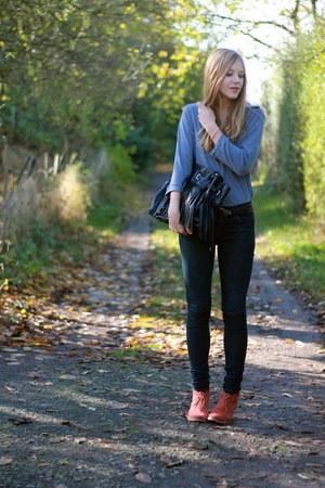 Mirapodo boots - Primark jeans - Charles Vögele blouse