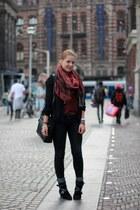 Aldo boots - Primark jeans - my moms scarf - my moms bag