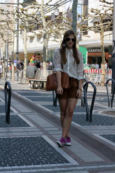 my moms bag - from paris pants - H&M blouse