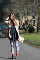 Zara coat - vintage leggings - vintage heels