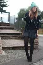 vintage hat - Primark boots - Urban Outfitters skirt