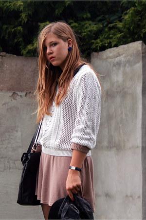 Zara shirt - my moms bag - Primark skirt