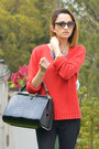 Black-mng-jeans-red-mng-sweater-black-mng-bag-dark-gray-ray-ban-glasses