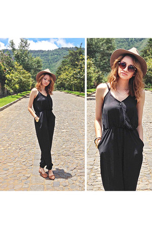 jumpsuit Sheinside jumper - hat brixton hat