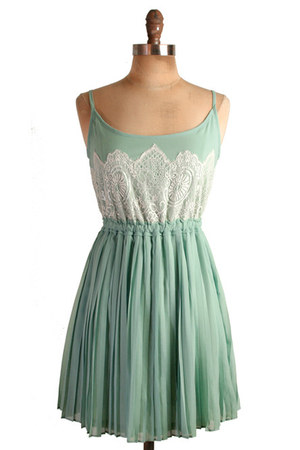 turquoise blue pleated Jade lace dress