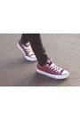 Burgundy-converse-shoes