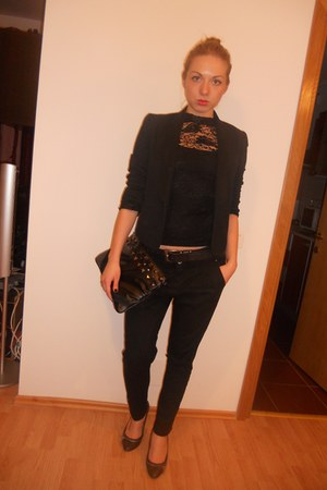 Zara jacket - Diesel top - Stradivarius pants - Mango purse - pull&bear shoes