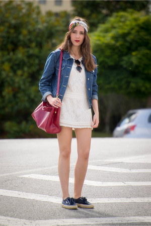 pull&bear bag - Sfera dress - Zara jacket - Superga sneakers