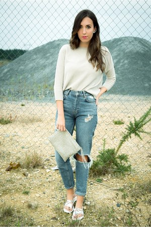 Zara sweater - pull&bear jeans - Zara bag - Zara accessories