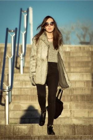 Zara boots - pull&bear jeans - H&M jumper