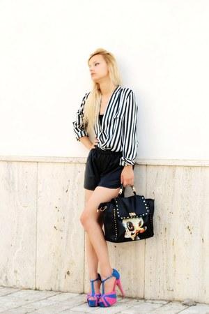 striped romwe blouse