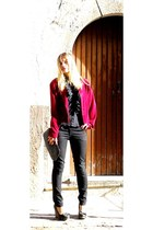 burgundy vintage jacket