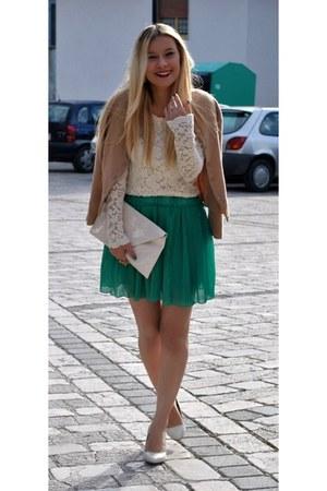 white OASAP heels