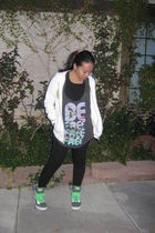 Old Navy jacket - Mossimo top - leggings - Punkrose shoes