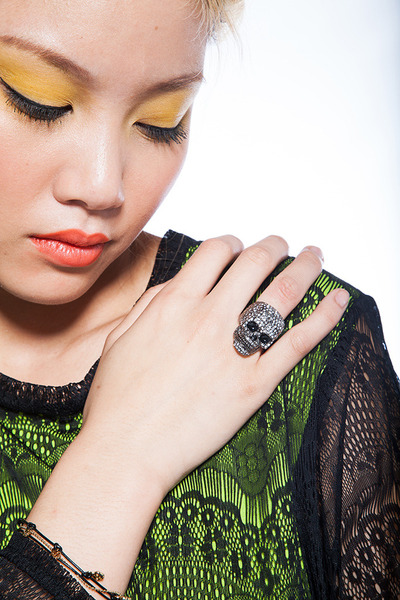 skull ring ring Violet Boutique ring