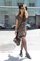 mullet floral vintage dress - Urban Outfitters shoes - Nasty Gal hat