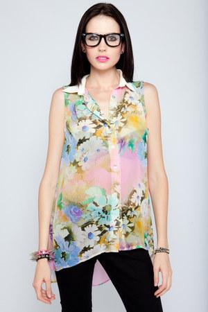 neon floral Violet Boutique shirt
