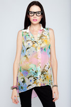 neon floral Violet Boutique shirt